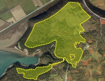 The spatial extent of the Špin golf course